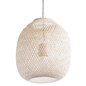 Creating a space that helps you feel peaceful and productive is the key to work-at-home success. And home office decor items like this bamboo pendant light will do just that!