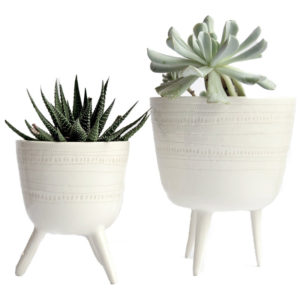 Creating a space that helps you feel peaceful and productive is the key to work-at-home success. And home office decor items like ceramic tripod planters will do just that!