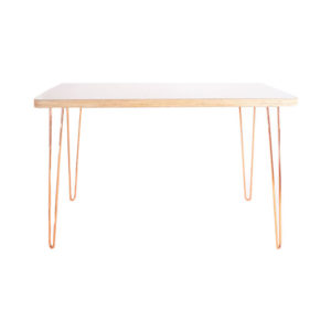Creating a space that helps you feel peaceful and productive is the key to work-at-home success. And home office decor items like this simple handmade desk will do just that!