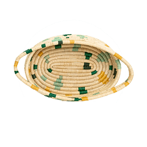 Whether your decor style is Boho, Coastal - even Minimalist - there's a set of woven basket wall decor out there with your name on it! And you can start with the Forest Bud Terrazzo Oval Basket from ethical brand KAZI.