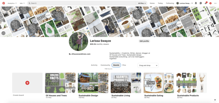 The Easiest Way to Create a Mood Board for Interior Design. STEP 2: Navigate to your profile and click on