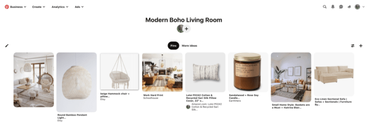 The Easiest Way to Create a Mood Board for Interior Design. STEP 6: You can add a few different kinds of pins. Either photos of rooms that have some of the elements you want for your room, photos of the furniture, accessories and paint you want, or a mixture of both.