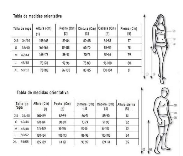 Talla China-Hombre-Mujer