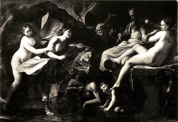Obra de Mattia Preti, Orpheus no Hades, 1640-1645, Óleo sobre tela.