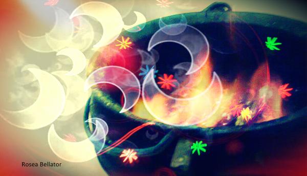 Consegue sentir a magia da lua, também símbolo da Grande Deusa? Ao fechar os olhos posso ver mil cores dançando ao meu lado! Foto: Rosea Bellator.
