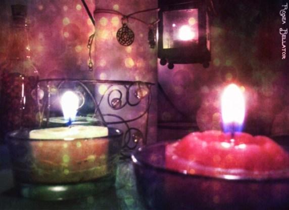 Um pedacinho do meu altar. Foto: Rosea Bellator.