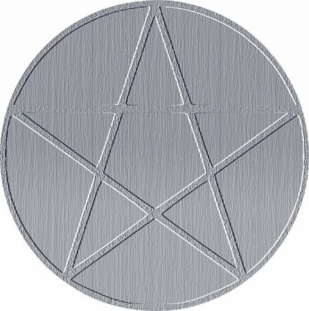 """E não, usar uma estrela de 5 pontas ou um pentagrama invertido ou não é sinônimo de """"magia negra"""". Imagem Rosea Bellator."""