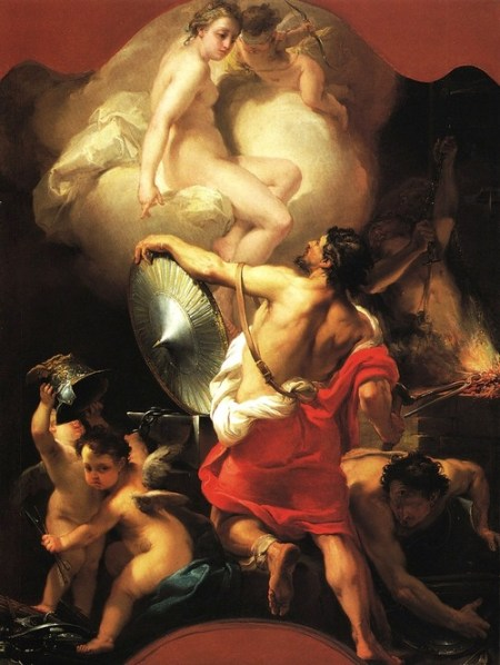 Gaetano Gandolfi, Afrodite na forja de Hefesto, c. 1770-5