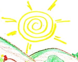 O Sol quente, aquele da manhã indo para o meio dia, este é o maior símbolo do Deus Cornífero, sendo a contraparte da deusa Donzela que é a Lua Crescente bela no céu,  para torna-se lua Cheia em breve.