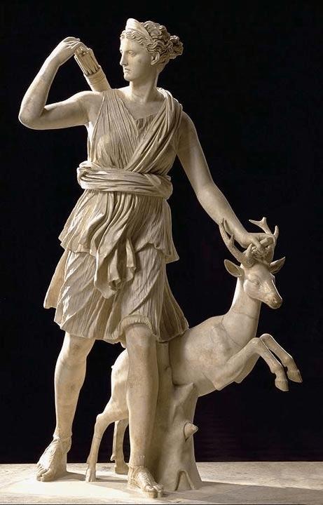Ártemis caçadora, de Leocarés