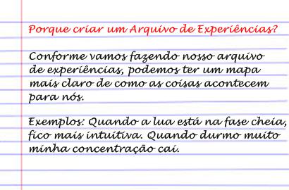 arquivo de experiência - experiência 1