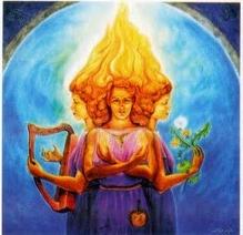 Brígida, desenho de Hranajanto, O Oraculo da Deusa
