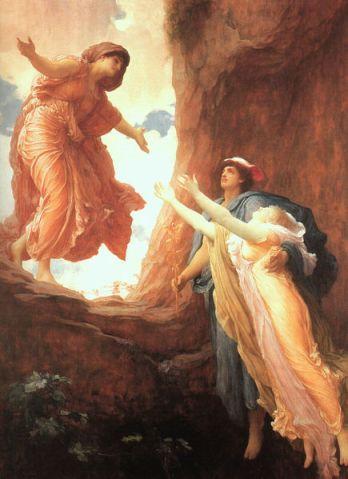 O Retorno de Perséfone, Frederic Leighton, 1891.