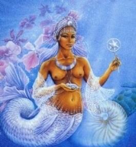 Iemanjá, desenho de Hranajanto, O Oraculo da Deusa
