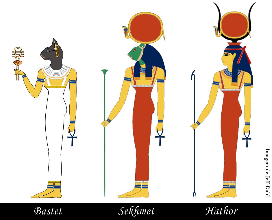 pequenos rituais das deusas bastet sekhmet e hathor oficina das