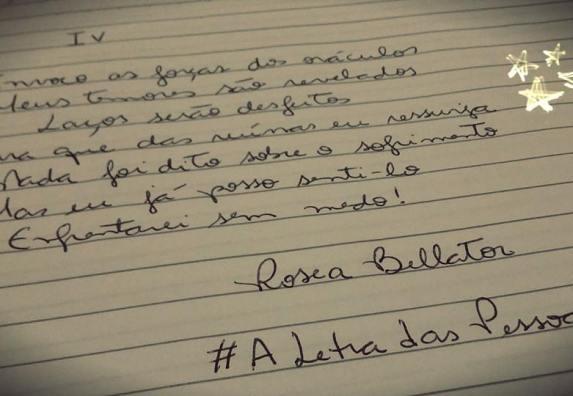 #ALetraDasPessoas  Foto do Desafio feito por uma amiga no Facebook.
