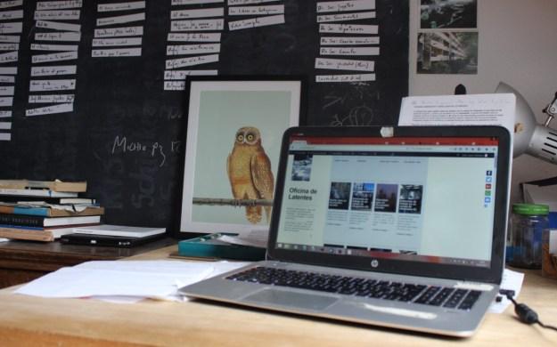 Laboratorio de Oficinadelatentes.com, con buho de mis amigos de 30_x40