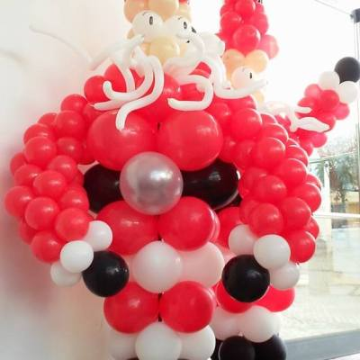 Pai Natal em Balões   Oficina de Sonhos - Animação e Decoração de Eventos Algarve