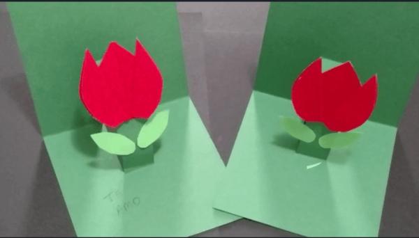 cartão tulipa dias das mães
