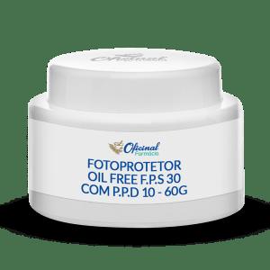 Fotoprotetor Oil Free F.P.S 30 com P.P.D 10 60g - Rosto