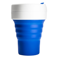 Silicone-Retractable-Folding-Coffee-Cup-Telescopic-Collapsible-Pocket-Blue