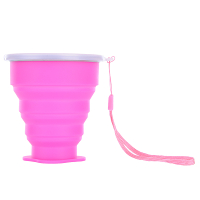 Travel-Silicone-Retractable-Folding-Cup-Telescopic-Collapsible-Pink