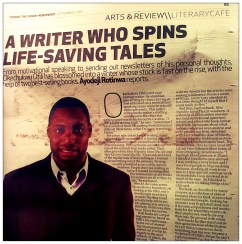 Ofilispeaks Magically Appears in THISDAY Newspaper