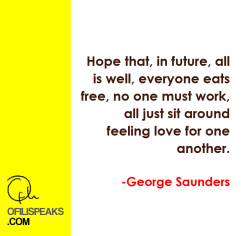 George Saunders Speaks: A Two-Minute Note To The Future