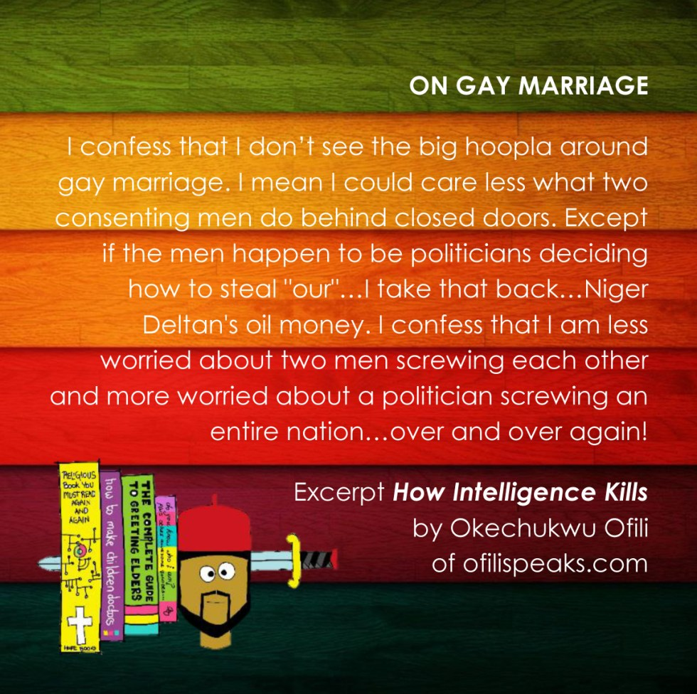 on gay marriage