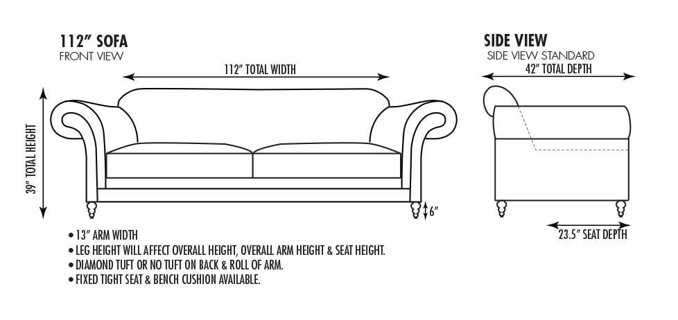 Emerson 112 Inch Sofa