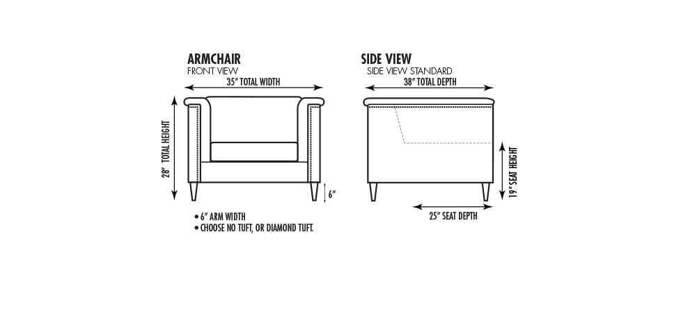 35 Inch Armchair