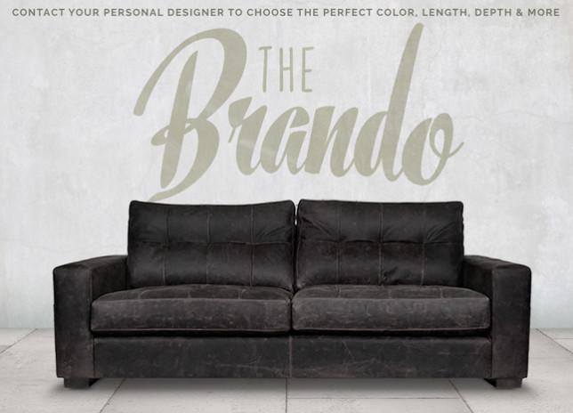 Brando Blind Tufted Track Arm Sofa