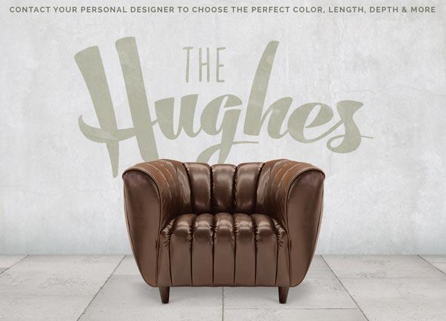 Hughes Art Deco Club Arm Leather Chair