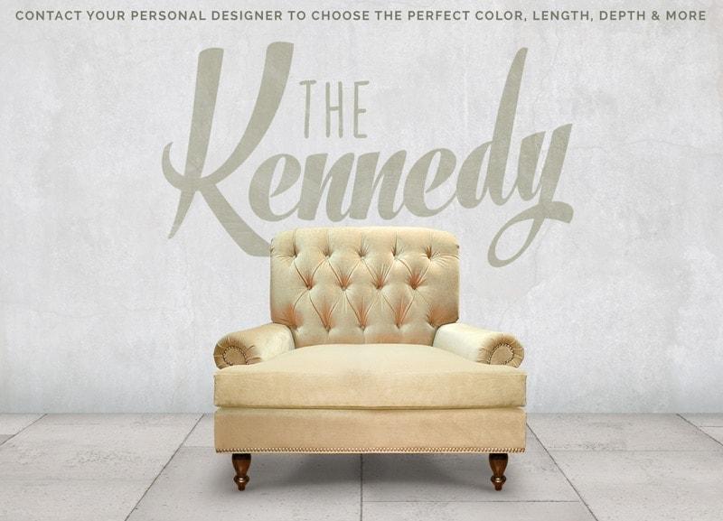 Kennedy Tufted Roll Arm Chair