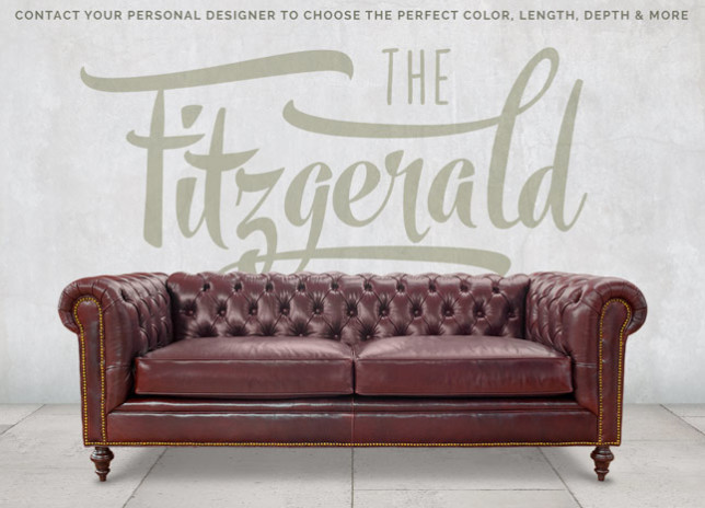 Fitzgerald Vintage Leather Sofa