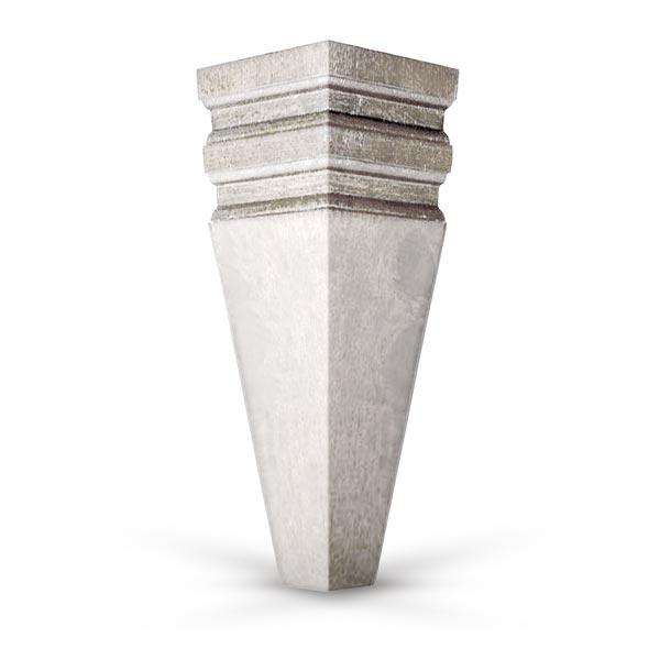 6 Inch Sculpted Square Sofa Leg