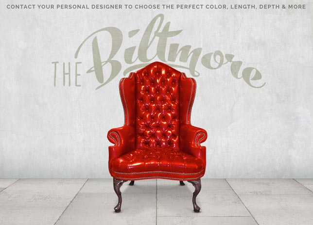 Biltmore Estate Tufted Back Red Leather Wing Chair