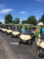Everyone is preparing their carts