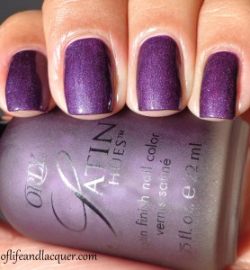 Orly Satin Hues Satin Finesse Swatch with Top Coat