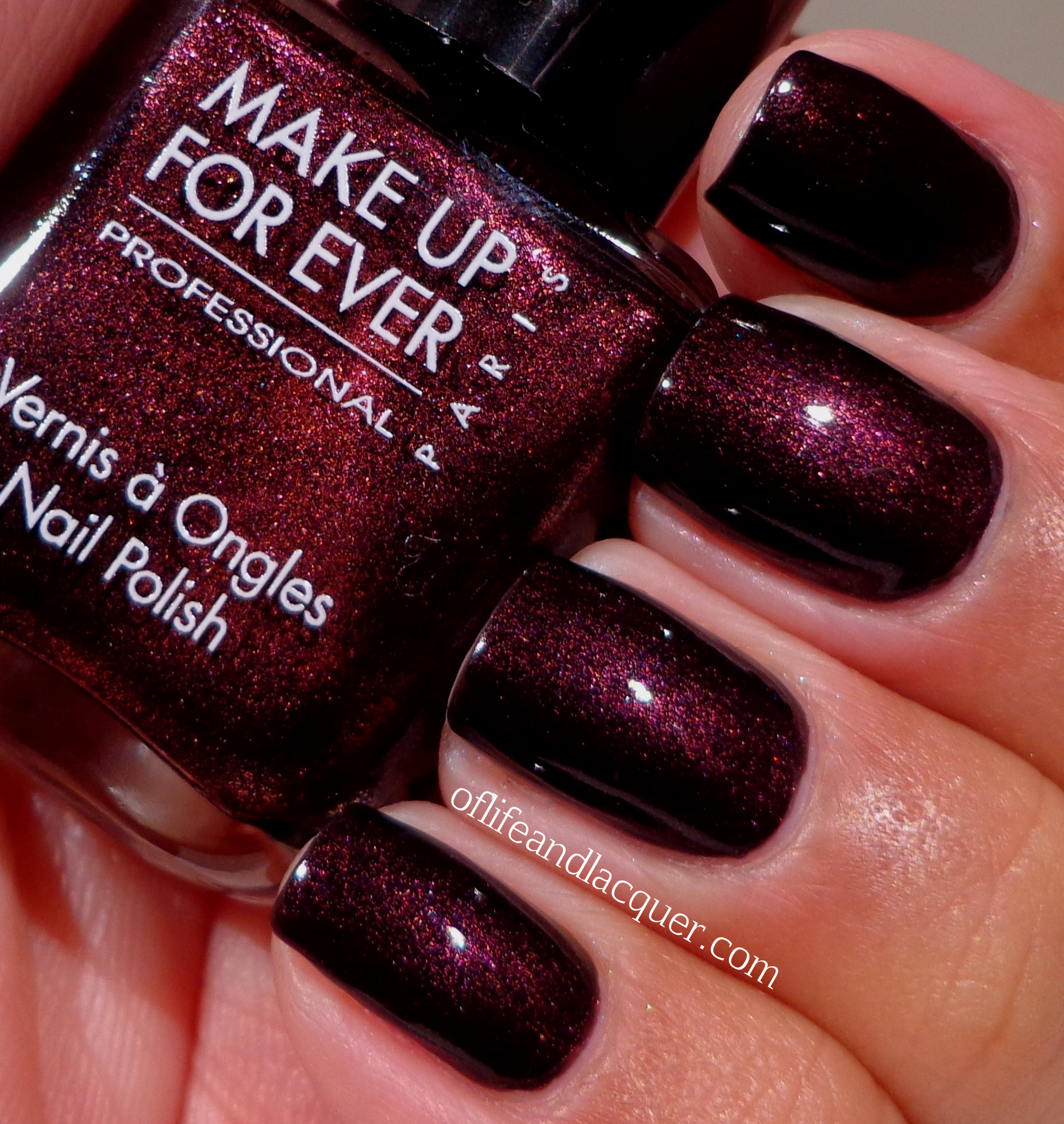 Birthday Polish: Make Up For Ever Black Tango Red Black Nail Polish ...