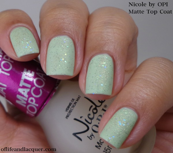 Nicole by OPI Matte Top Coat 1a