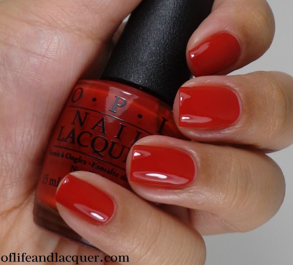 OPI Red Hot Rio 2a
