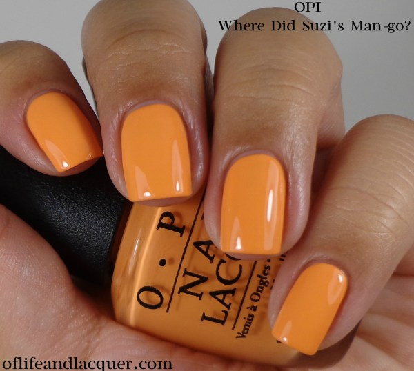 OPI Where Did Suzi's Man-go 1a