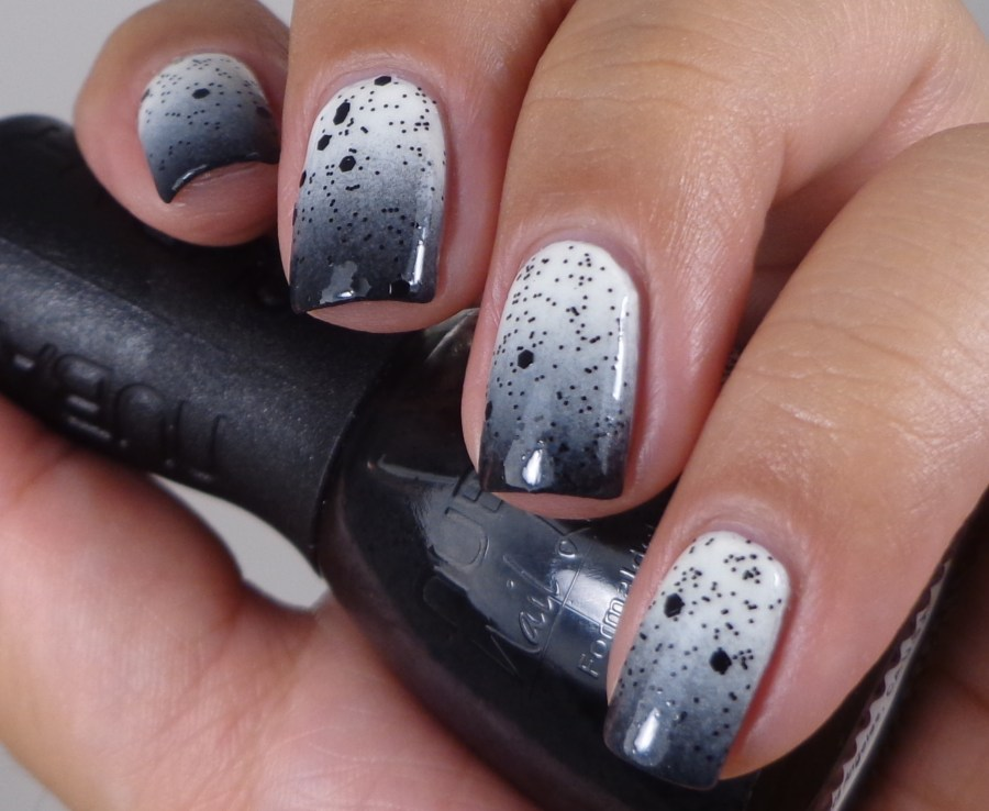 Black and White Gradient with Nubar Polka Dots 3