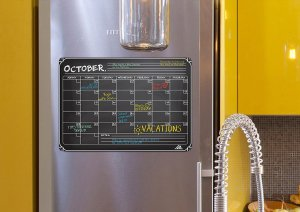 Use a magnetic fridge calendar to keep track of food expiration dates.