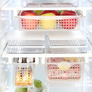 Install pull out bins for additional storage in your fridge.