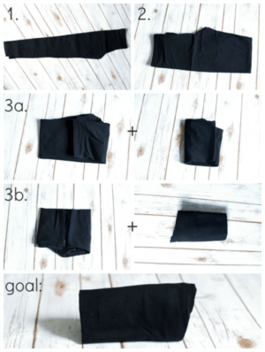 This is a very smart way to fold leggings. I would have never thought to do this! Pinned!