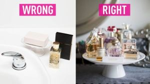 If you want your perfumes and fragrances to last longer, make sure to store them in cool dry places aways from sunlight.