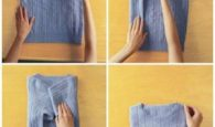 Here's how to perfectly fold a sweater. Pin this to your followers! They will love this idea.