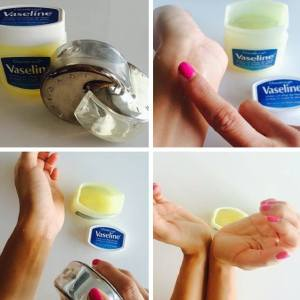 Use Vaseline on your wrist before spraying perfume. It helps lock in your perfume's scent and it will last longer.